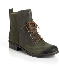 Naya Agave Leather Boots - Lyst