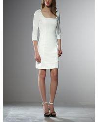Patrizia Pepe Mix Color Short Tube Dress In Stretch Viscose Cadi - Lyst