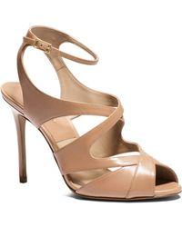 Michael Kors Cordelia Leather Sandal - Lyst
