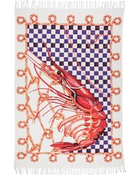 Temperley London Large Coralie Rope Check Beach Towel - Multi - Lyst