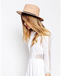 ASOS - Felt Panama Hat With Plait Braid Trim New Improved Fit - Brown - Lyst
