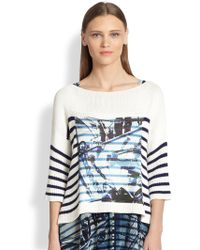 Jean Paul Gaultier Nautical-Print Striped Sweater - Lyst