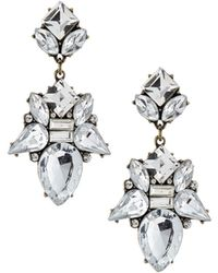 Lydell NYC - Statement Crystal-cluster Double-drop Earrings - Lyst