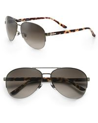 Gucci Oversized Aviator Sunglasses - Lyst