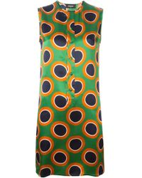 DSquared² Circle Print Shift Dress - Lyst