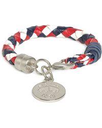 Brooks Brothers Braided Leather Bracelet - Lyst