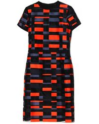 Jil Sander Navy Abito Block Printed Dress - Lyst