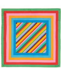 Valentino '1973' Stripe Print Silk Scarf multicolor - Lyst