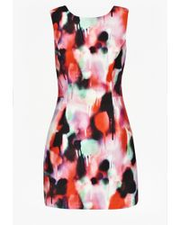 French Connection Miami Graffiti Mini Dress pink - Lyst