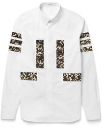 Givenchy Band-Trimmed Floral-Print Cotton Shirt - Lyst