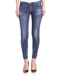 Hudson | Lilly Mid-rise Skinny Jeans | Lyst