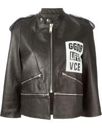 Golden Goose Deluxe Brand Logo-Print Zip Biker Jacket - Lyst