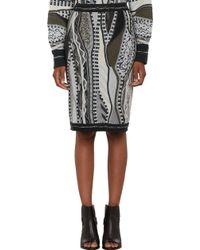 Rag & Bone Coogi Mixedpattern Knit Skirt - Lyst