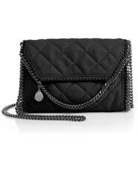 Stella McCartney Falabella Mini Quilted Faux Suede Shoulder Bag - Lyst