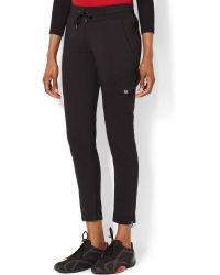 Lauren by Ralph Lauren Drawstring-waist Ankle-zip Pants - Lyst