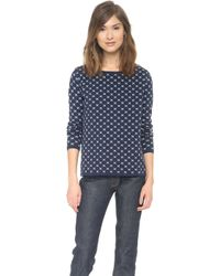 Chinti And Parker Small Cross Crew Neck Sweater - Lyst