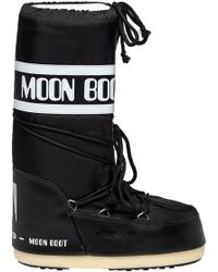 Tecnica Moon Boots | Moon Boot After Ski Boot Black Fabric | Lyst