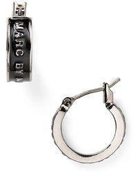 Marc By Marc Jacobs Classic Marc Huggie Hoop Earrings - Lyst