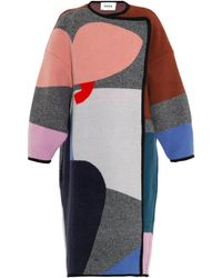 Issa Clemence Oversized Patchwork Coat - Lyst