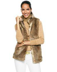 C. Wonder Faux Chinchilla Fur Vest - Lyst