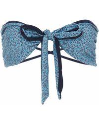 Lilliput & Felix - Rosa Bandeau Bikini Top In Bluebell - Lyst