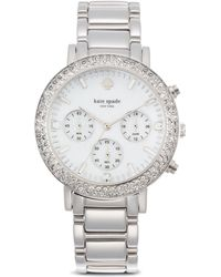 Kate Spade Pave Gramercy Grand Watch 38mm - Lyst