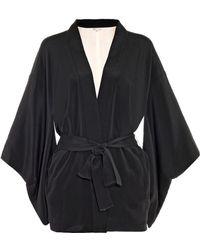Fleur Du Mal Haori Silk Kimono Robe - Lyst