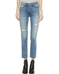 3x1 W3 High Rise Straight Leg Cropped Jeans - Mcqueen - Lyst