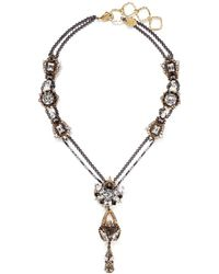 Erickson Beamon 'Sacred Geometry' Crystal Chain Necklace - Lyst