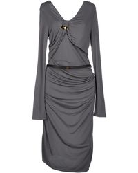 Gucci Gray Kneelength Dress - Lyst