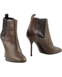 Pierre Hardy Ankle Boots brown - Lyst