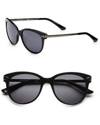 Thierry Mugler Rounded Cats Eye Sunglasses - Lyst