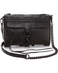 Rebecca Minkoff Mini Mac Bag Black - Lyst
