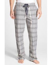 Daniel Buchler Men'S Plaid Cotton Lounge Pants - Lyst