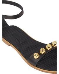 Miu Miu Studded Ankle-Strap Sandals - Lyst