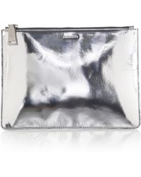 Jil Sander Specchio Metallic Leather Pouch - Lyst