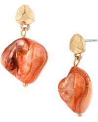 Kenneth Cole Shell Bead Drop Earrings - Lyst
