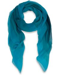 Jonathan Saunders  Ombre Rectangle Print Silk Scarf - Lyst