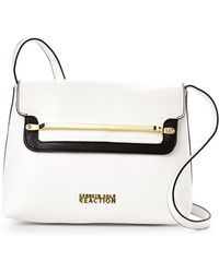 Kenneth Cole Reaction White & Black Bar None Crossbody - Lyst