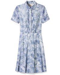 Tory Burch Textured Dress - Lyst