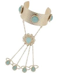 TOPSHOP - Pastel Stone Hand Chain - Lyst