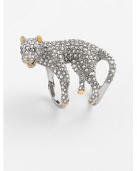 Alexis Bittar 'Elements' Panther Cocktail Ring - Gunmetal/ Crystal - Lyst