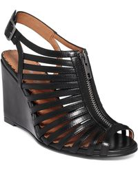 Rampage Caligo Zip Up Wedge Sandals - Lyst