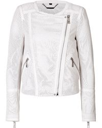 Rachel Zoe Mesh Leather Avery Moto Jacket - Lyst