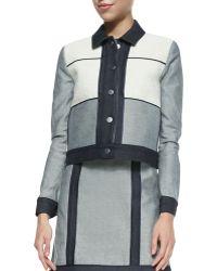 Victoria Beckham Denimtweed Patchwork Jacket - Lyst
