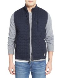 Surfside Supply - Quilted Zip Front Vest - Lyst