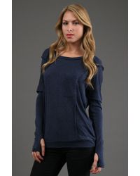 Ella Moss Alli Pocket Long Sleeve - Lyst