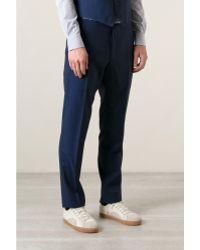 Mr Start Rivington Royal Blue Wool Mohair Suit Trousers - Lyst