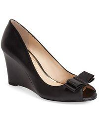 Jessica Simpson 'Lyla' Wedge Sandal black - Lyst
