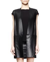 Helmut Lang Stilt Leather Tunic Vest - Lyst